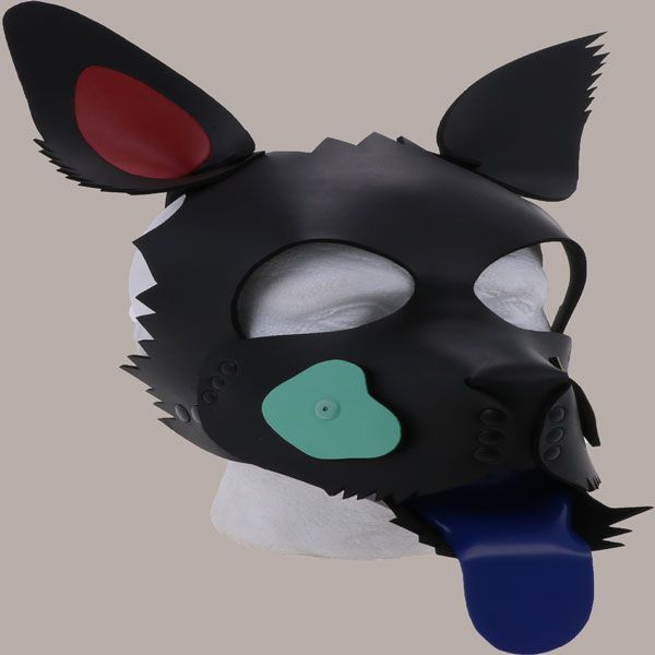 Mixed Patch Neoprene Pup Hood