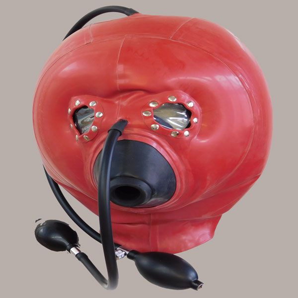 Red Inflatable Latex Hood